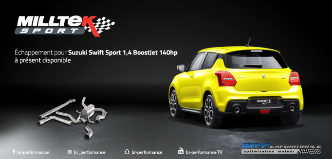 [Suzuki Swift] Echappement Milltek disponible !